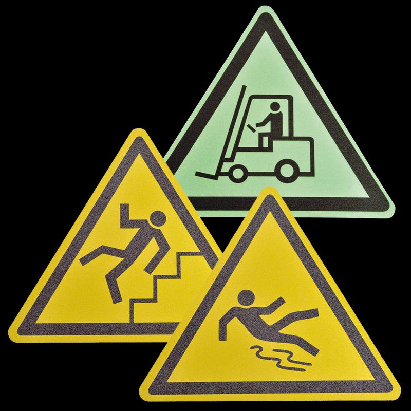 Antirutschbelag Bodenmarkierungssymbole